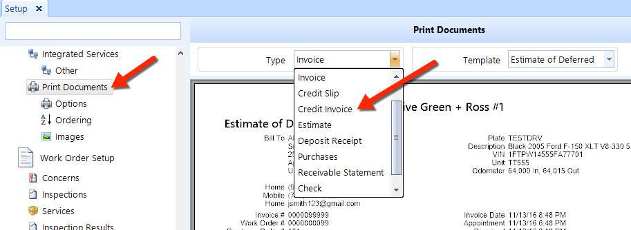 Add Edit Credit Invoice Template - Credit invoice template