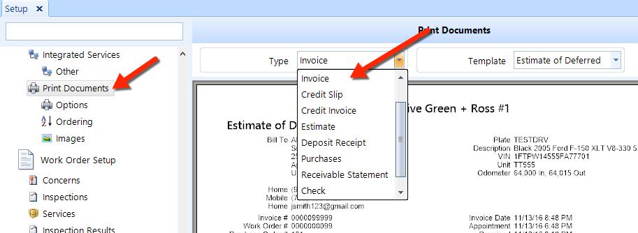 add edit invoice template